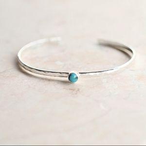 Adjustable Silver Turquoise Bracelet